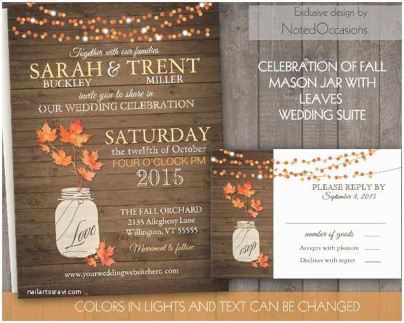 October Wedding Invitations 20 Second Marriage Wedding Invitation Templates – Free