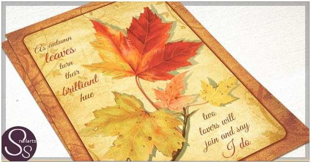 October Wedding Invitations Autumn Leaves Archives Rustic Paper