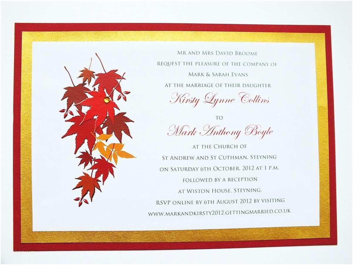 October Wedding Invitations Autumn Wedding Invitations