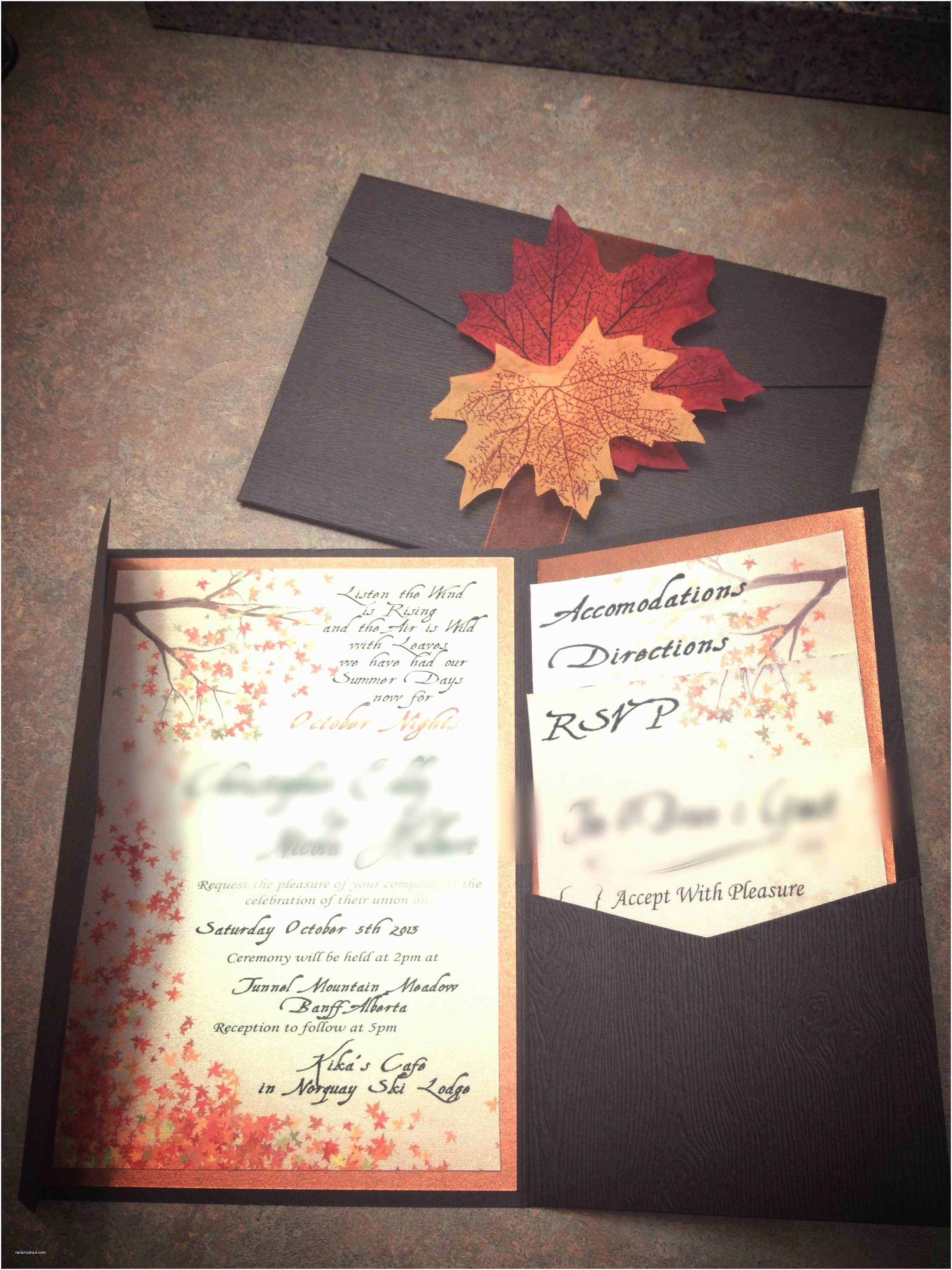 October Wedding Invitations Fall Wedding Invitations Best Photos