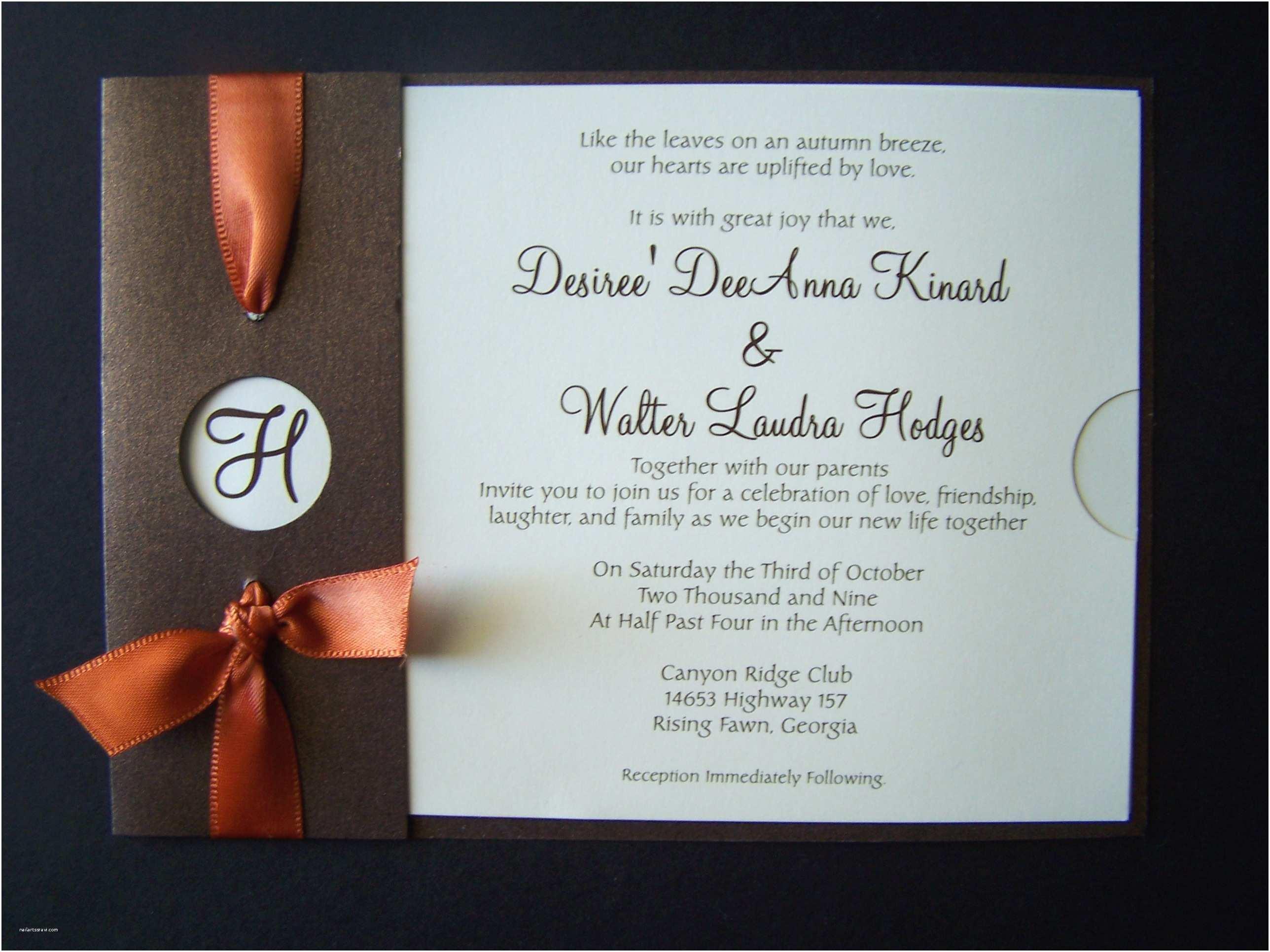 October Wedding Invitations Fall Wedding Invitations Ideas Wedding Invitations for
