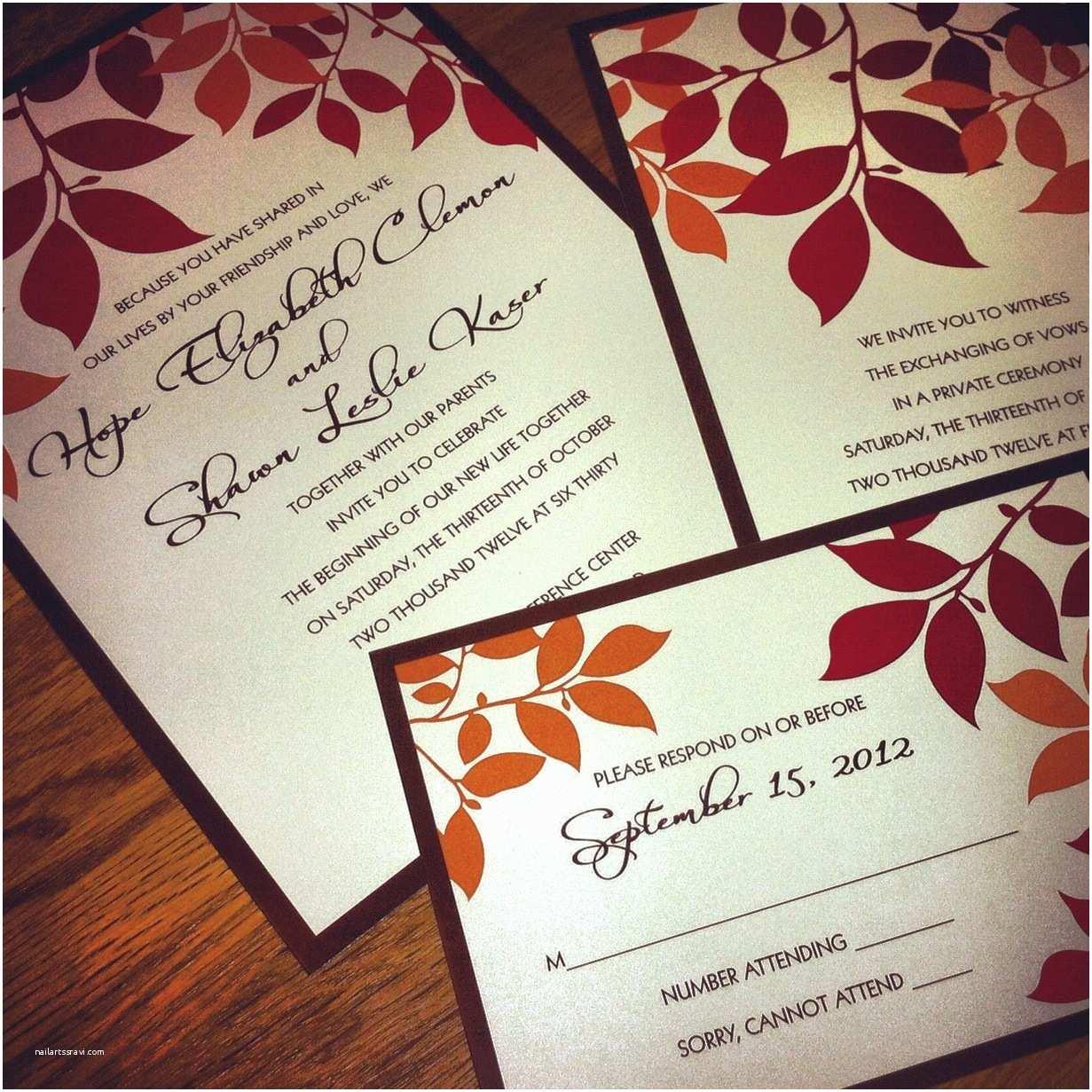 October Wedding Invitations Fall Wedding Shower Invitations — Criolla Brithday