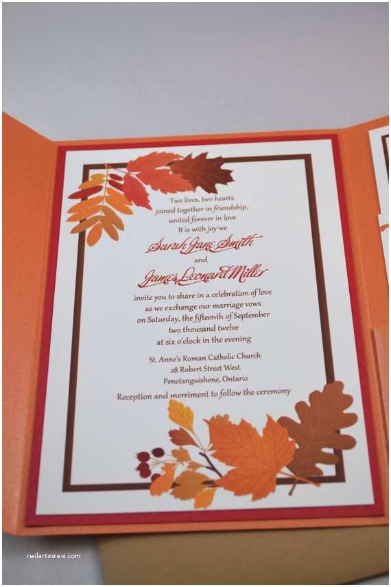 October Wedding Invitations Items Similar to Printable Pdf Fall Wedding Invitations
