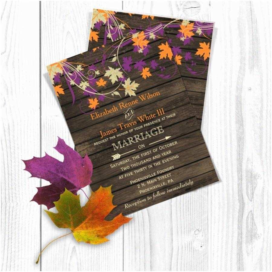October Wedding Invitations Printable Wedding Invitation Template Fall Wedding