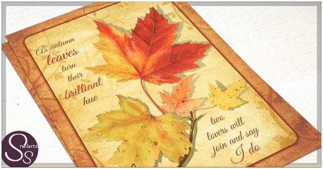 October Wedding Invitations Rustic Paper