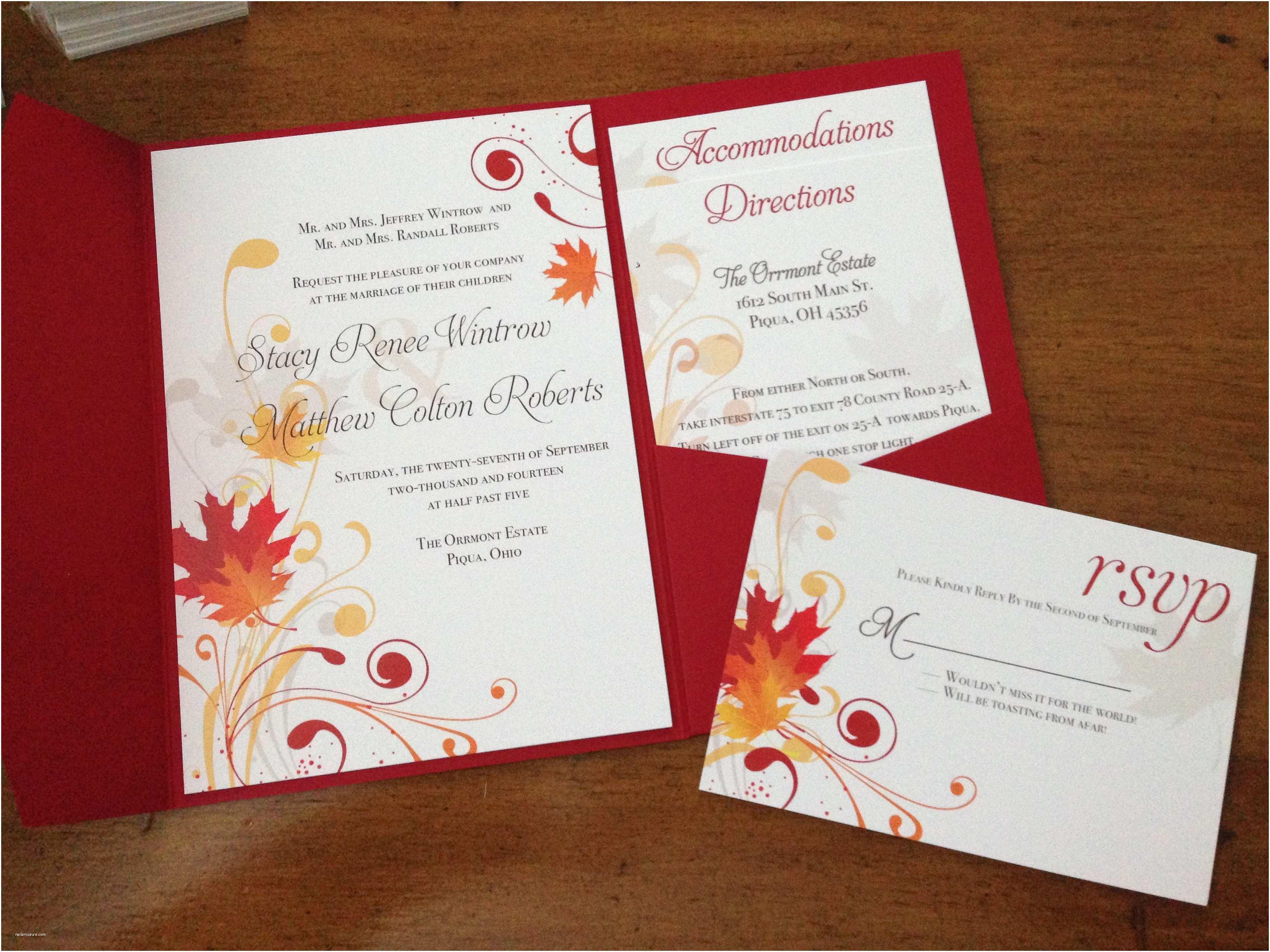 October Wedding Invitations Tips for Choosing Fall Wedding Invitations Free