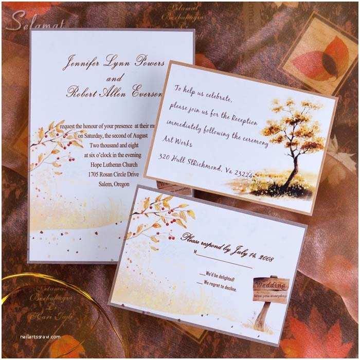 October Wedding Invitations top 5 Autumn Fall Wedding Invitation Ideas