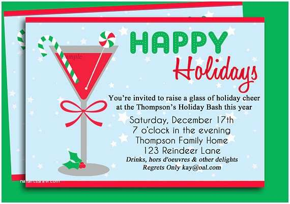 Office Christmas Party Invitation Wording Christmas Cocktail Party Invitation Printable Holiday