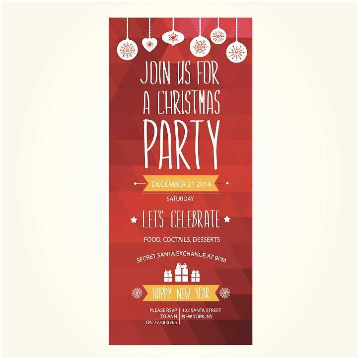 Office Christmas Party Invitations Professionally Printed Christmas Party Invitations for