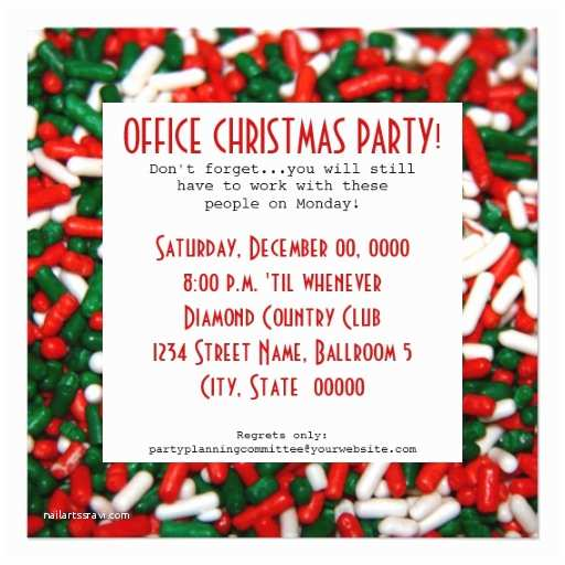 "Office Holiday Party Invitation Wording Fice Christmas Party Invitations 5 25"" Square Invitation"