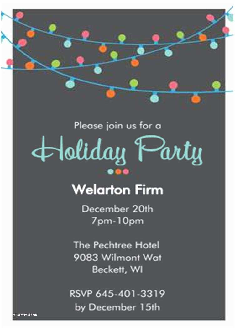 Office Holiday Party Invitation Wording Fice Holiday and Christmas Party Invitations 2018