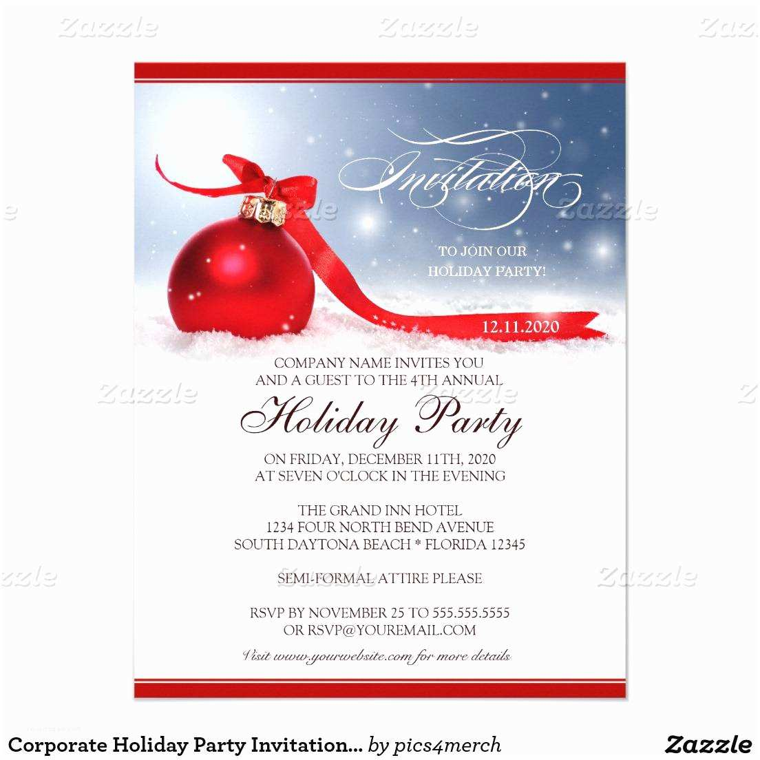 Office Holiday Party Invitations Christmas Invitation Template