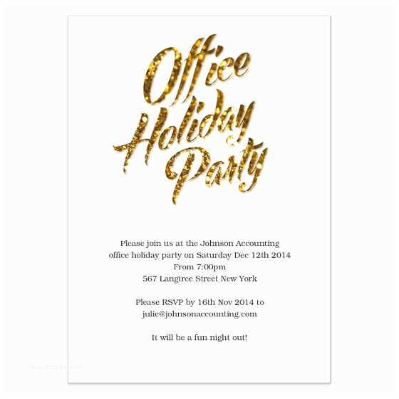 Office Holiday Party Invitations Gold Sparks Fice Holiday Party Invitations & Cards On