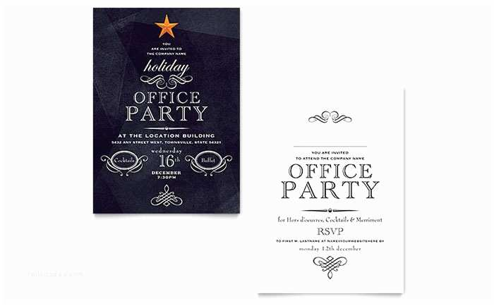 Office Party Invitation Email Fice Holiday Party Invitation Template Design