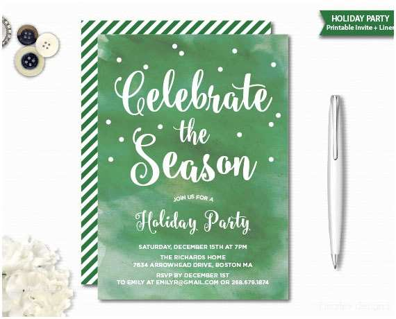 Office Party Invitation Email Watercolor Christmas Invitation Christmas Party Holiday