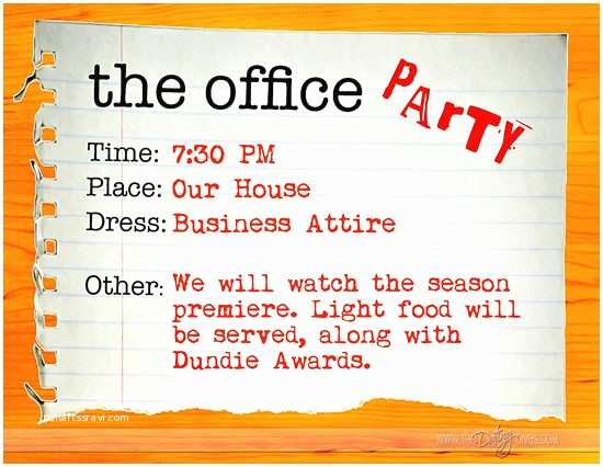 Office Party Invitation the Fice Party