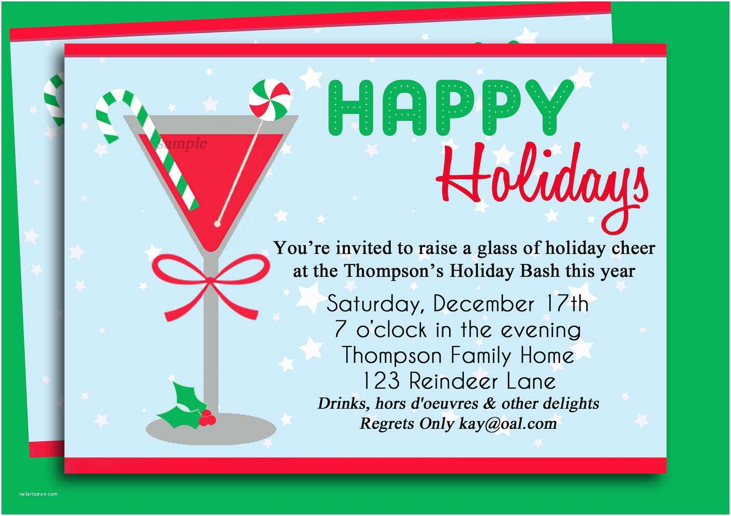 Office Party Invitation Wording Christmas Cocktail Party Invitation Printable Holiday