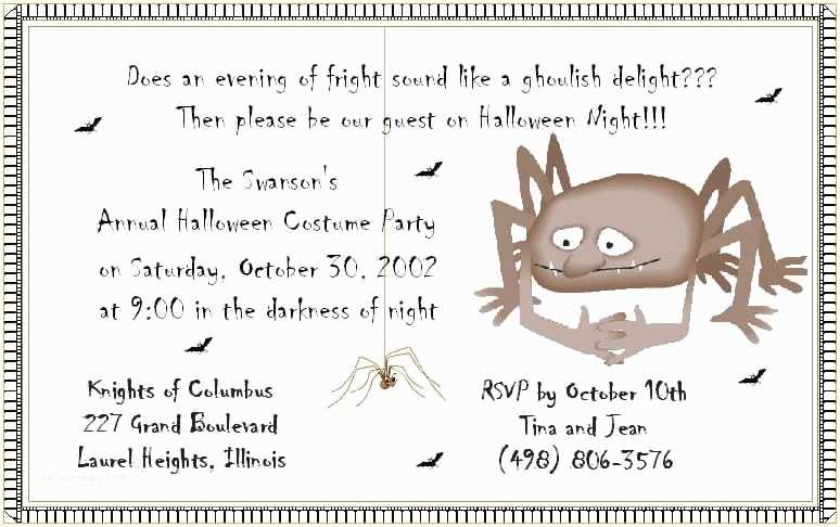 Office Party Invitation Wording Halloween Party Invitation Wording – Gangcraft