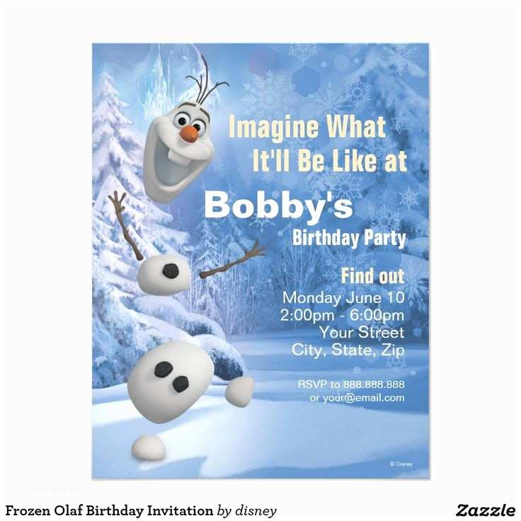 Olaf Birthday Invitations 50 Best Images About Birthday Invitations On Pinterest