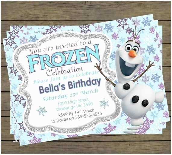 Olaf Birthday Invitations Frozen Olaf Birthday Invitations