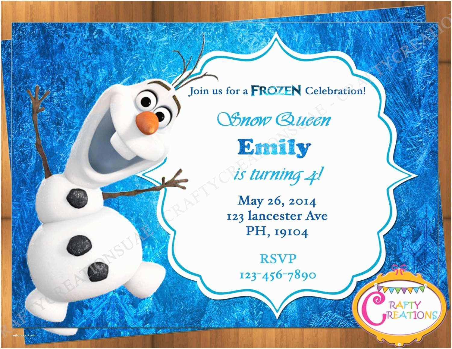 Olaf Birthday Invitations Olaf Invitation Frozen Olaf Birthday Invitation Printable
