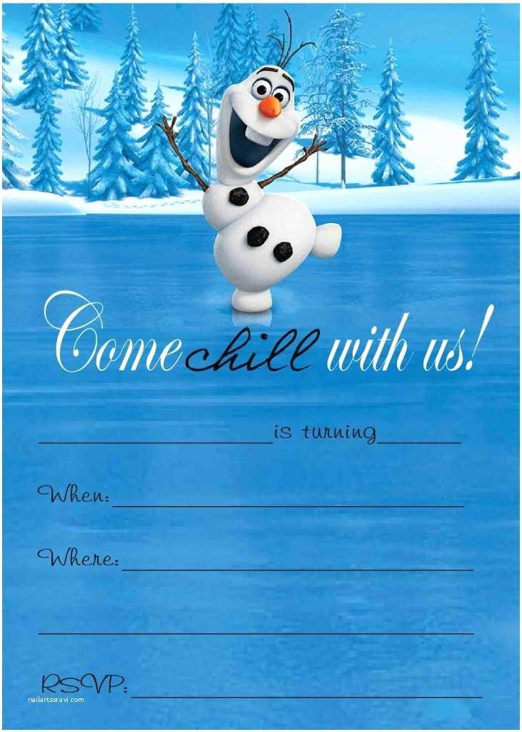 Olaf Birthday Invitations Olaf Printable Birthday Card Personalised Birthday Cards