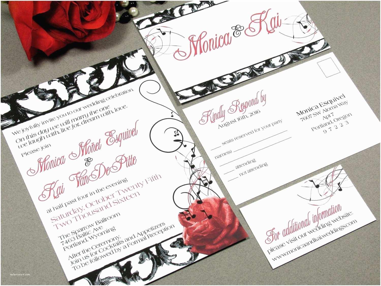 vintage hollywood wedding invitation set