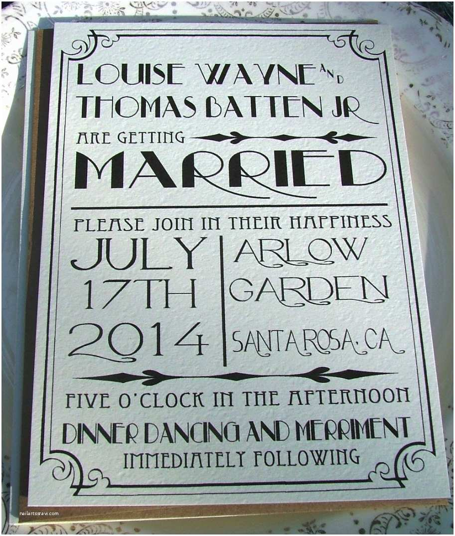 Old Hollywood themed Wedding Invitations Wedding Invitations Great Art Deco Hollywood Old Hollywood