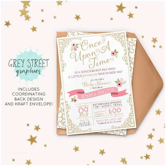 Once Upon A Time Baby Shower Invitations Ce Upon A Time Baby Shower Invitation Fairytale Princess