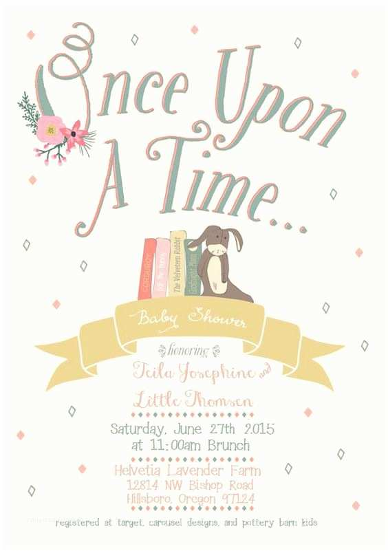 Once Upon A Time Baby Shower Invitations Ce Upon A Time Baby Shower Invitation