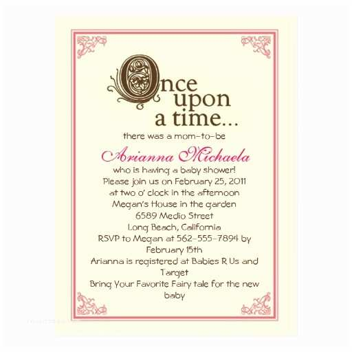 Once Upon A Time Baby Shower Invitations Ce Upon A Time Baby Shower Invitation Postcard