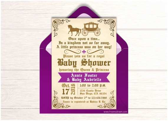once upon a time baby shower invitation ref=market