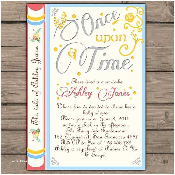 Once Upon A Time Baby Shower Invitations Ce Upon A Time Baby Shower Invitation Shower Invite Gender
