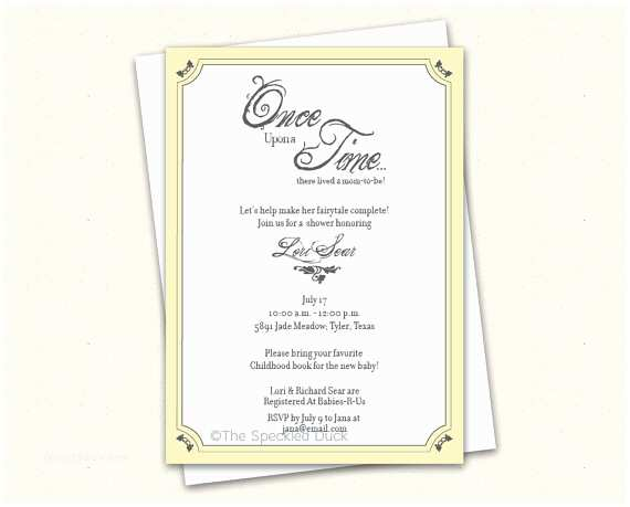 Once Upon A Time Baby Shower Invitations Ce Upon A Time Baby Shower Invitations