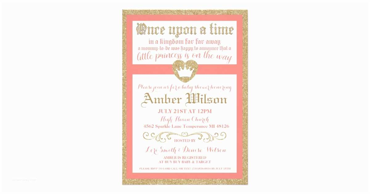 Once Upon A Time Baby Shower Invitations Ce Upon A Time Princess Baby Shower Invitation