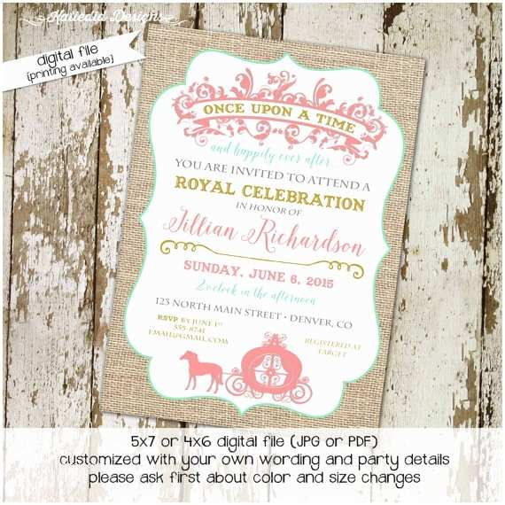 Once Upon A Time Baby Shower Invitations once Upon A Time Baby Girl Shower Invitation Bridal Burlap