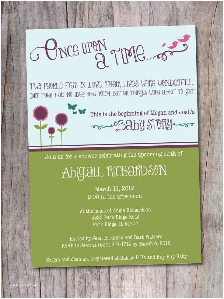 Once Upon A Time Baby Shower Invitations Pinterest Discover and Save Creative Ideas