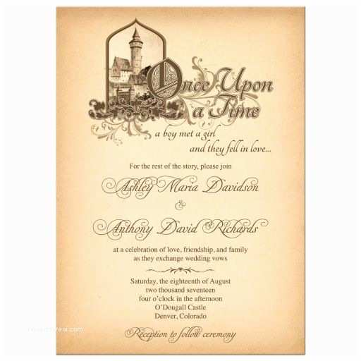 Once Upon A Time Wedding Invitations Fairy Tale Wedding Invitation Me Val Castle Ce Upon A Time