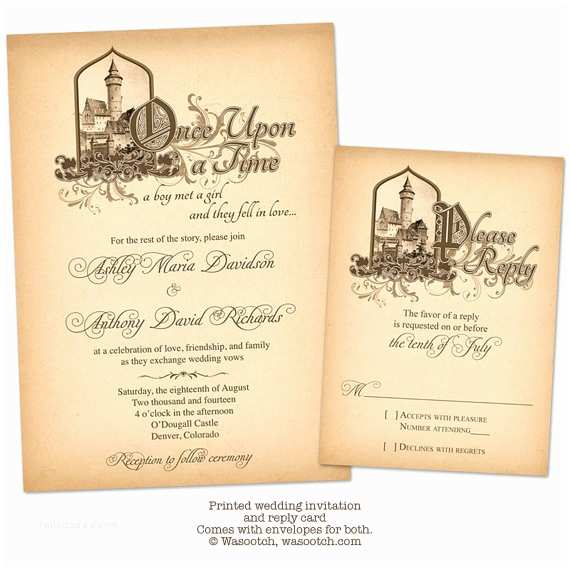Once Upon A Time Wedding Invitations Fairytale Ce Upon A Time Me Val Castle Wedding Invitation