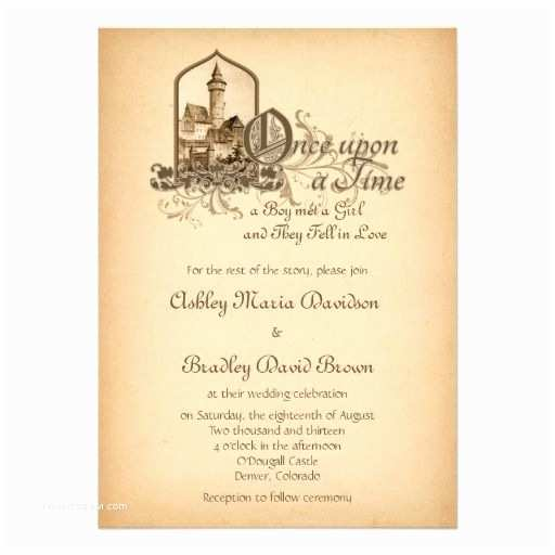 Once Upon A Time Wedding Invitations Fairytale Me Val Castle Ce Upon Wedding Invitation