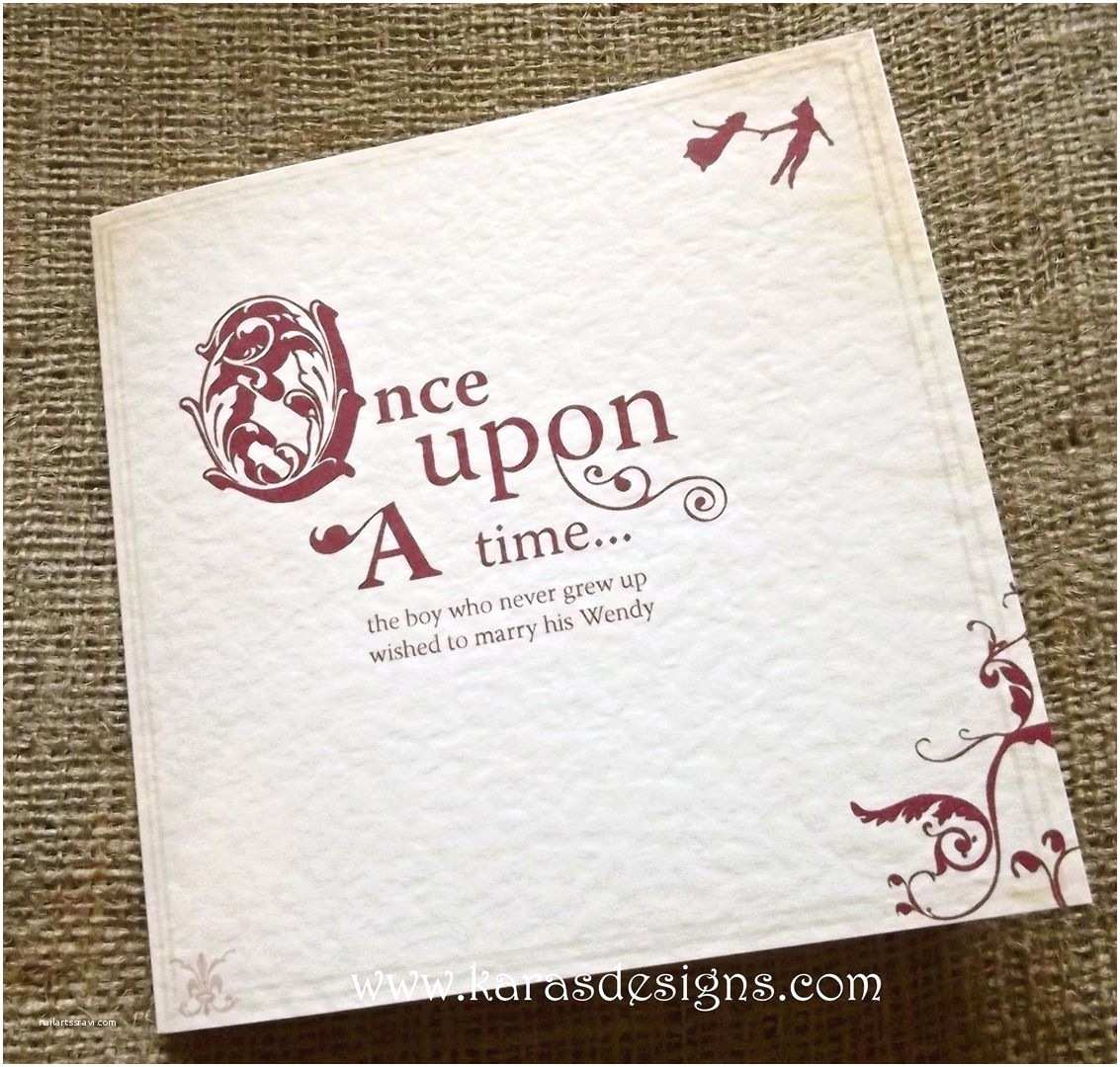 Once Upon A Time Wedding Invitations Kara S Designs Wedding Stationery Ce Upon A Time