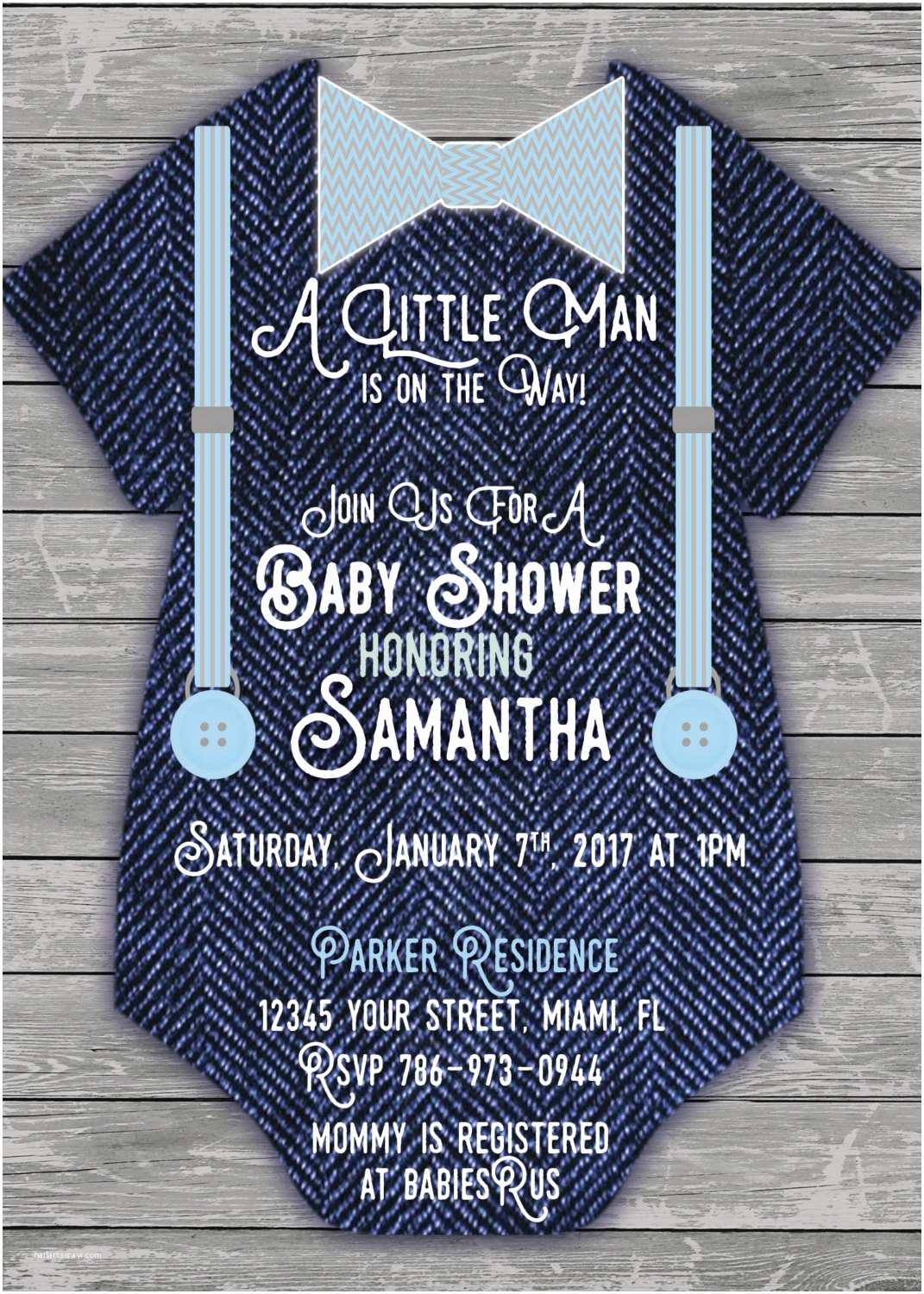 Onesie Baby Shower Invitation Baby Boy Esie Jean Baby Shower Invitation Printable