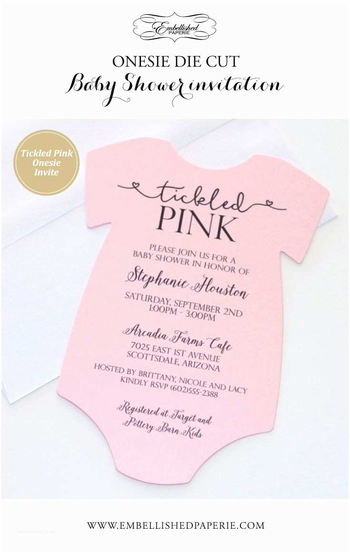 Onesie Baby Shower Invitation Best 20 Baby Girl Invitations Ideas On Pinterest