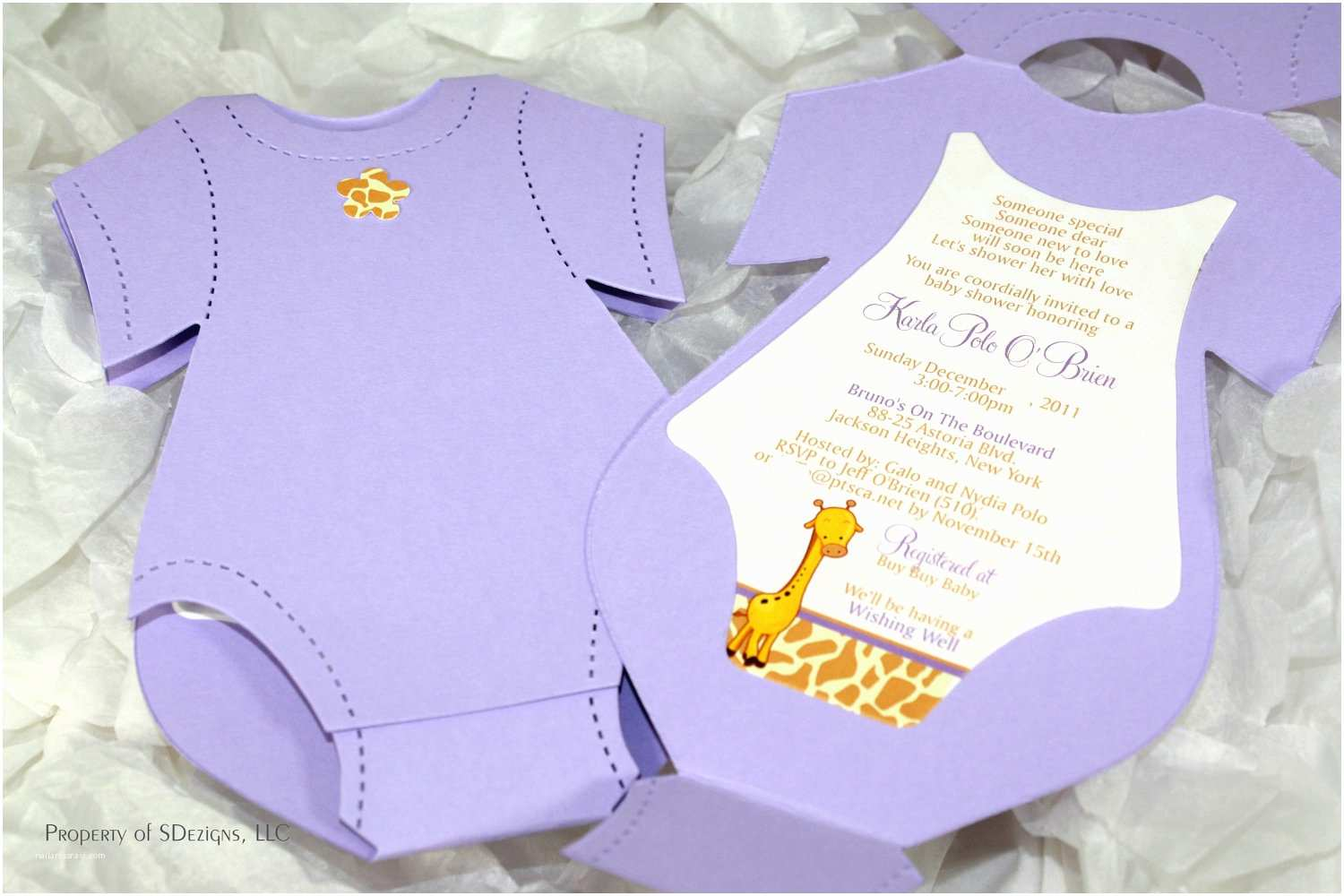 Onesie Baby Shower Invitation Esie Baby Shower Invitation Baby Announcement Giraffe