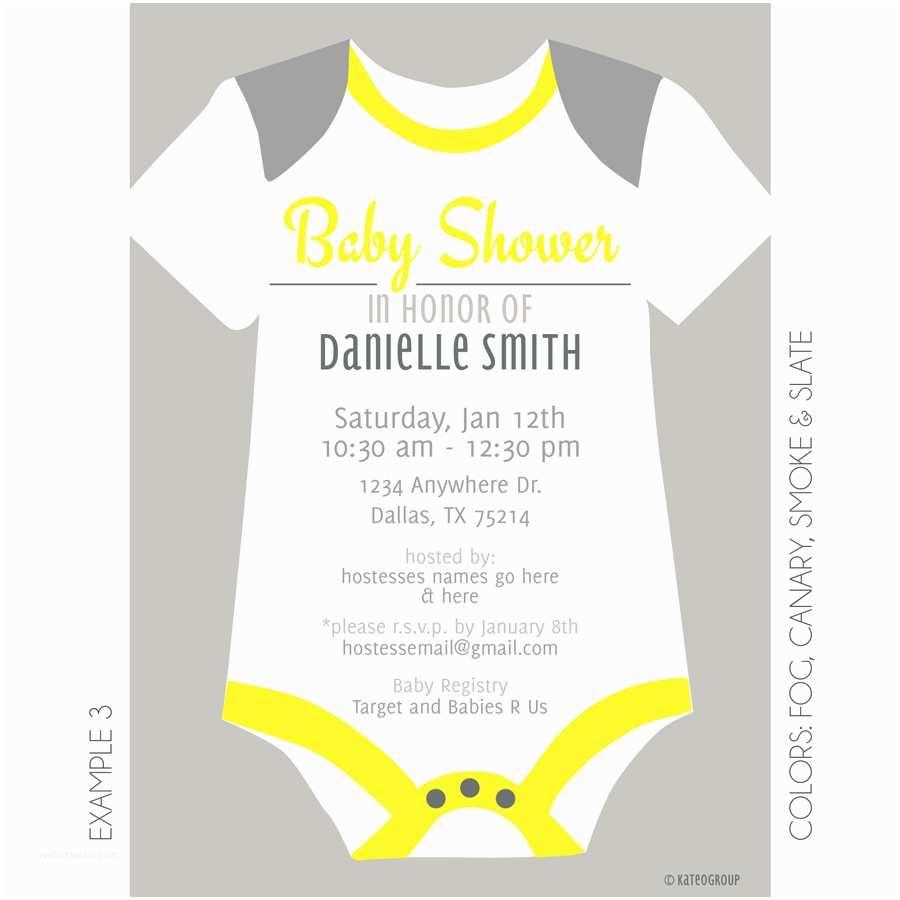 Onesie Baby Shower Invitation Esie Baby Shower Invitation