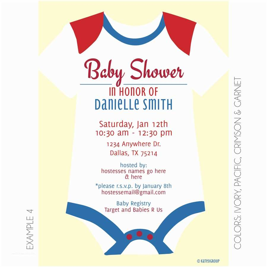 Onesie Baby Shower Invitation Esie Baby Shower Invitation