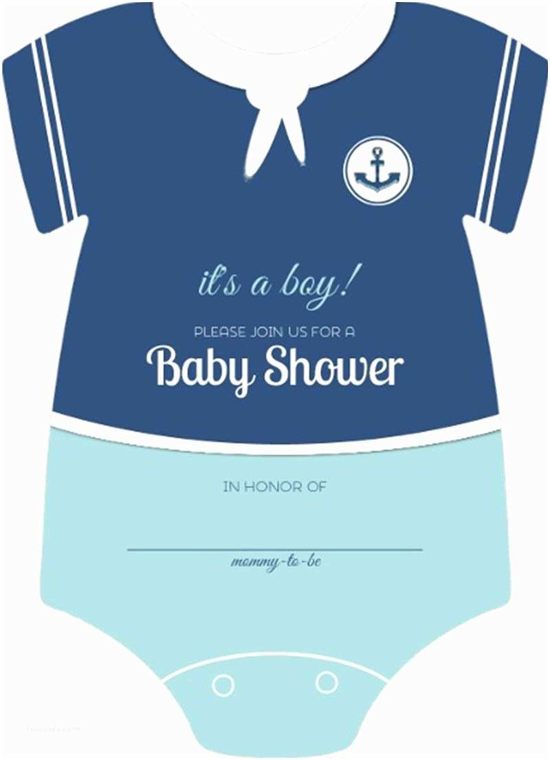 Onesie Baby Shower Invitation Sailor Esie Boys Nautical themed Fill In Blank Baby