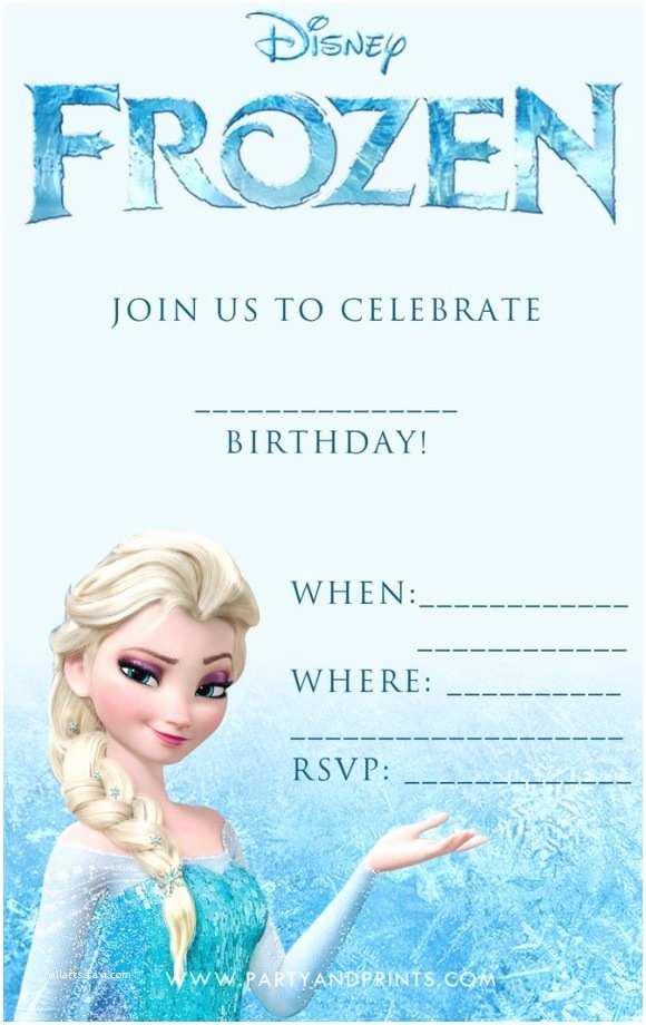 Online Birthday Invitations Disney Frozen Birthday Invitation Template