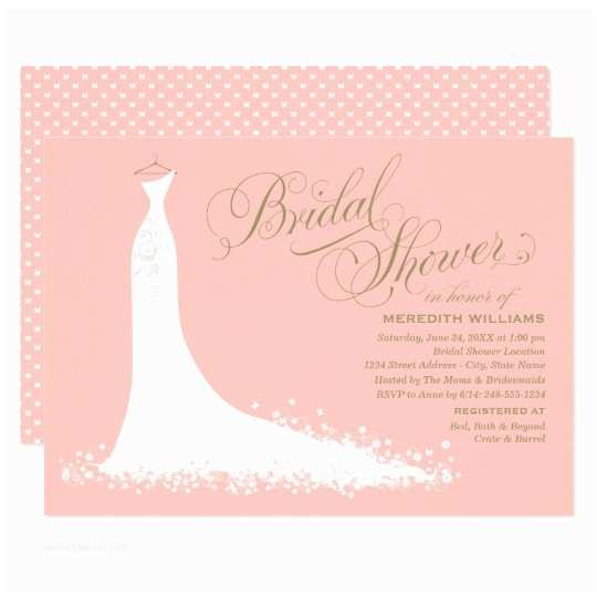 Online Bridal Shower Invitations Bridal Shower Invitation Elegant Wedding Gown