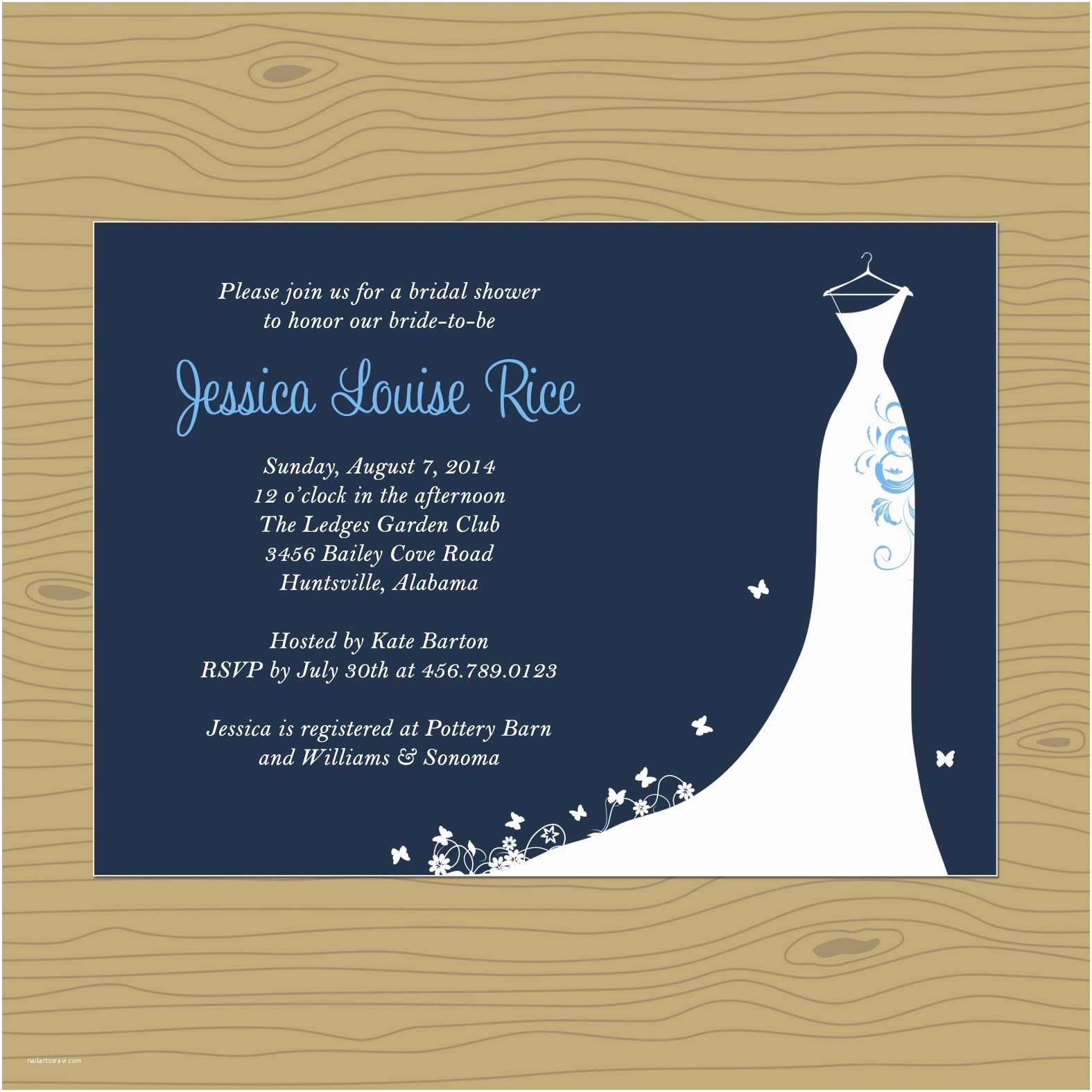 Online Bridal Shower Invitations Card Template Blank Invitation Templates Free for Word